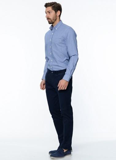 George Hogg Uzun Kollu Gömlek Lacivert
